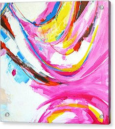 Entangled No. 8 - Right Side - Abstract Painting Acrylic Print