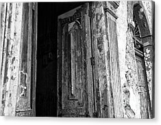 Enter At Your Own Risk Mono Acrylic Print by John Rizzuto