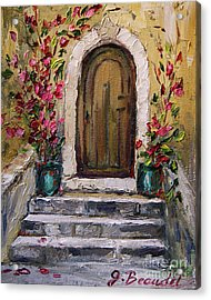 Acrylic Print featuring the painting Enter Here by Jennifer Beaudet