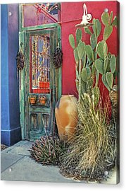 Enter - You Are Always Welcome Acrylic Print by Lucinda Walter