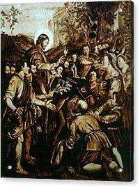 Entering Into Jerusalem Acrylic Print