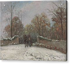 Entering The Forest Of Marly Acrylic Print by Camille Pissarro