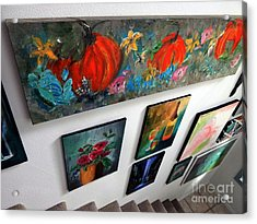 Entering The Gallery 1st Gallery Wall Acrylic Print by Lisa Kaiser