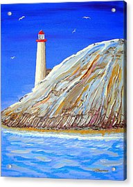 Entering The Harbor Acrylic Print by J R Seymour