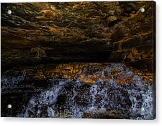 entering the unknown - Cavern Acrylic Print