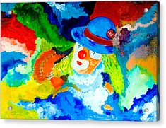 Acrylic Print featuring the painting Entertainer by Piety Dsilva