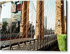 Entertainment City Bridge Acrylic Print by Jonathan Michael Bowman