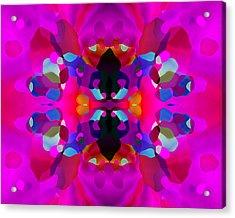 Acrylic Print featuring the digital art Enthusiasm by Lynda Lehmann