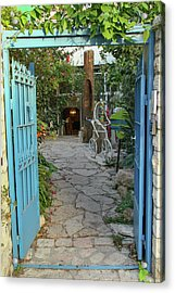 Entrance Door To The Artist Acrylic Print by Yoel Koskas