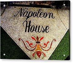 Entrance Mosaic Napoleon House Acrylic Print by Ted Hebbler