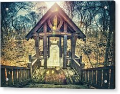 Acrylic Print featuring the photograph Entrance To 7 Bridges - Grant Park - South Milwaukee  by Jennifer Rondinelli Reilly - Fine Art Photography