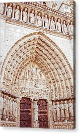 Entrance To Notre Dame Cathedral Acrylic Print