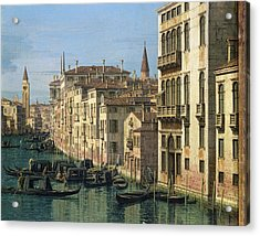 Entrance To The Grand Canal Looking West Acrylic Print by Canaletto