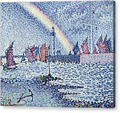Entrance To The Port Of Honfleur Acrylic Print by Paul Signac