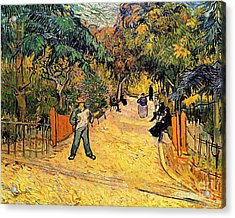 Entrance To The Public Park In Arles Acrylic Print by Vincent Van Gogh