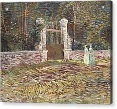 Entrance To The Voyer Dargenson Park At Asnieres Acrylic Print by Vincent Van Gogh