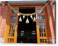 Entrance To The Wu De Martial Arts Hall Acrylic Print by Yali Shi
