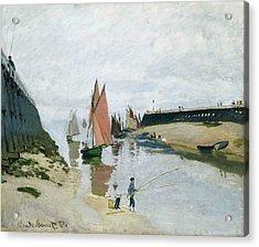 Entree Du Port De Trouville Acrylic Print by Claude Monet