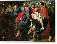 Entry Of Christ Into Jerusalem Acrylic Print by Sir Anthony van Dyke