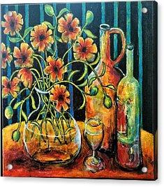 Entwining Poppies Acrylic Print
