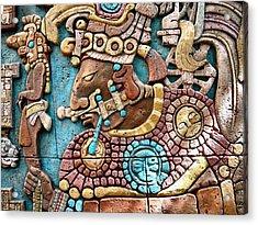 Epcot Mayan Warrior Acrylic Print