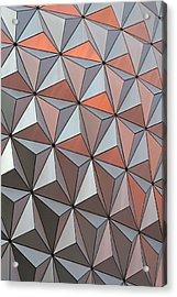 Epcot Pattern Acrylic Print by Linda Phelps