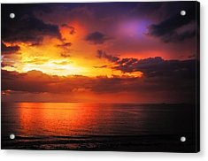 Epic End Of The Day At Equator Acrylic Print by Jenny Rainbow