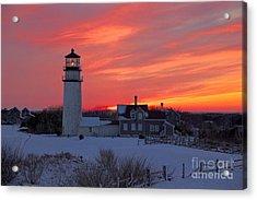 Epic Sunset At Highland Light Acrylic Print