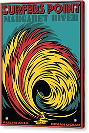 Epic Surf Designs Surfers Point  Acrylic Print by Larry Butterworth