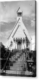 Episcopal Church Of The Messiah In Black And White Acrylic Print