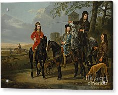 Equestrian Portrait Of Cornelis And Michiel Pompe Van Meerdervoort With Their Tutor And Coachman, St Acrylic Print