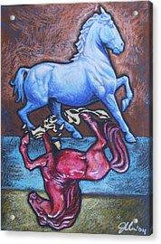 Equus Acrylic Print by Jennifer Bonset