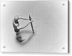 Erasing His Tracks Acrylic Print by Mark Fuller
