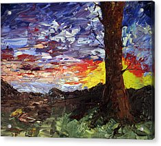 Acrylic Print featuring the painting Erda Sunset by Jane Autry
