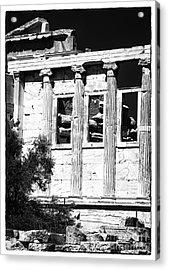 Erechtheum Columns Acrylic Print by John Rizzuto