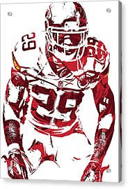 Eric Berry Kansas City Chiefs Pixel Art 2 Acrylic Print