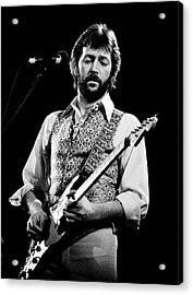 Eric Clapton 1977 Acrylic Print by Chris Walter