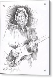 Eric Clapton Blackie Acrylic Print by David Lloyd Glover