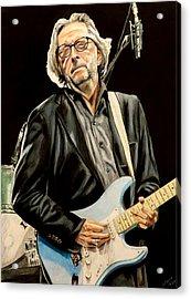 Eric Clapton Acrylic Print by Chris Benice