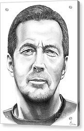 Eric Clapton Acrylic Print by Murphy Elliott