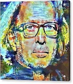 Eric Clapton Portrait Acrylic Print by Yury Malkov