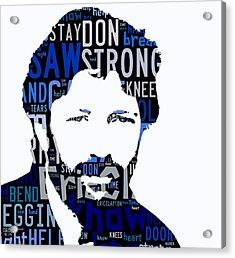Eric Clapton Tears In Heaven Acrylic Print