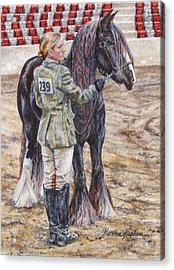 Erica Waiting - Win Or Lose  Acrylic Print