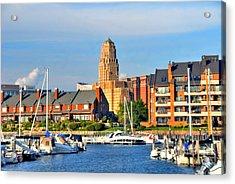 Erie Basin Marina Acrylic Print by Kathleen Struckle