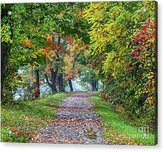 Erie Canal In Fall Acrylic Print