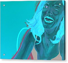 Acrylic Print featuring the painting Erin Winking by Kevin Callahan