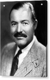 Ernest Hemingway, Ca. 1940 Acrylic Print by Everett