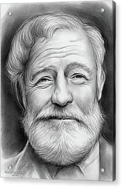 Ernest Hemingway Acrylic Print by Greg Joens