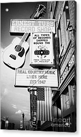 ernest tubbs record shop on broadway downtown Nashville Tennessee USA Acrylic Print