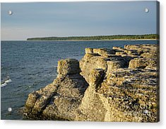 Acrylic Print featuring the photograph Eroded Cliff Formations by Kennerth and Birgitta Kullman